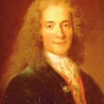 """Letterato e filosofo francese, fu iniziato il 7 aprile 1778 a Parigi, nella Loggia delle Nove Sorelle. Era Venerabile di quella celebre loggia il famoso astronomo LALANDE. Voltaire entrò nel Tempio massonico guidato da Beniamino Franklin, allora ambasciatore a Parigi, e dal Conte de Gobelin. Morendo, pronunciò la frase: """"Muoio adorando Dio, amando i miei fratelli, non odiando i miei nemici e detestando la superstizione""""."""