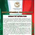 Roma 20 settembre 2010 – Manifesto del Gran Maestro Gustavo Raffi per la ricorrenza del XX Settembre 2010.