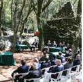 """Radicofani 29 agosto 2010 – Tornata nel Bosco Isabella. Tradizionale incontro di fine estate della loggia """"XX Settembre"""" di Montepulciano."""