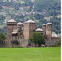 Fénis 23 maggio 2010 – Visita esoterica al Castello. Iniziativa dell'Associazione culturale Mont Blanc emanazione dell'omonima loggia di Saint Vincent.