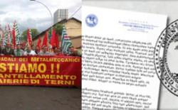 Solidarietà ai lavoratori delle Acciaierie di Terni