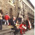 Firenze 20 settembre 2009 – XX Settembre, un concerto a piazza della Signoria.