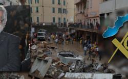 Il Gran Maestro Raffi consegna il contributo della Massoneria Ligure a favore degli alluvionati. Un'ambulanza porterà il logo del Collegio Ligure
