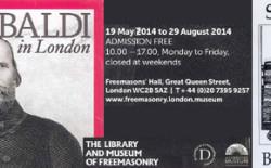 """""""Garibaldi in London"""" una mostra della Biblioteca e Museo della Gran Loggia Unita d'Inghilterra"""