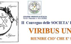 Viribus unitis. Convegno delle società iniziatiche