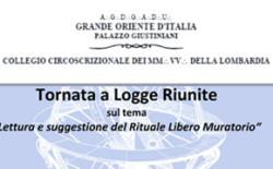 Tornata a Logge riunite del Collegio della Lombardia