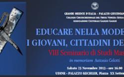 Dobbiamo insegnare ai giovani a diventare uomini liberi. Il messaggio di Raffi all'VIII Seminario di Studi Massonici di Udine