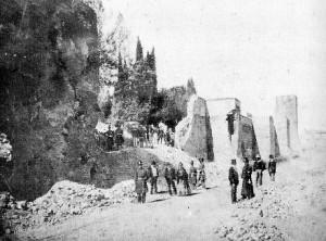 Breccia di Porta Pia in una foto d'epoca
