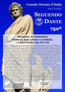 Manifesto XX Settembre, l'edizione 2015 del tradizionale documento del Grande Oriente d'Italia per l'anniversario della Breccia di Porta Pia