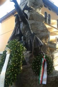 Padova, monumento ai Bersaglieri in Piazza Castello
