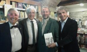 La presentazione a Pesaro con Marco Rocchi (secondo a sinistra)