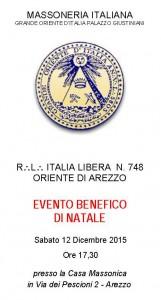 Arezzo, solidarietà concerto di natale 12 dicembre