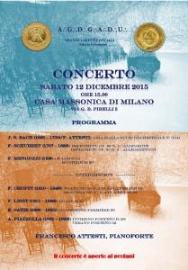 Milano 12 dicembre, concerto di Natale, locandina