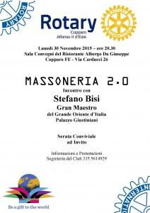 Rotary Ferrara, Massoneria 2.0 Locandina