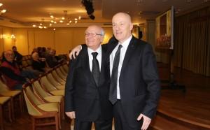 I Gran Maestri Stefano Bisi (a destra) e Antonio Binni