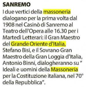 La Repubblica, Genova del 26 gennaio 2016
