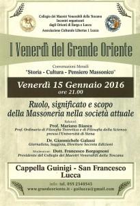 Lucca 15 gennaio 2016