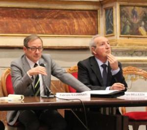 Il presidente circoscrizionale Fabrizio Illuminati e lo storico Sergio Bellezza