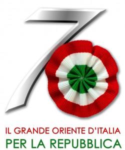 Logo del Grande Oriente d'Italia per i 70 anni della Repubblica Italiana