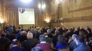 Il pubblico in sala a Reggio emilia