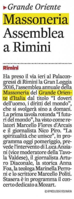 Corriere Adriatico del 2 aprile 2016