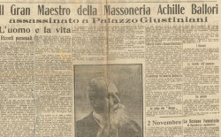 """""""Il delitto di Palazzo Giustiniani"""". Nel tempio a porte aperte il radiodramma sull'assassinio di Achille Ballori"""
