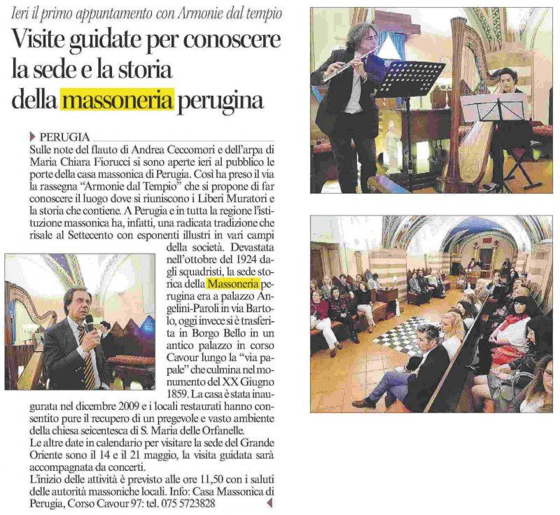 Corriere dell'Umbria 08.05.2016