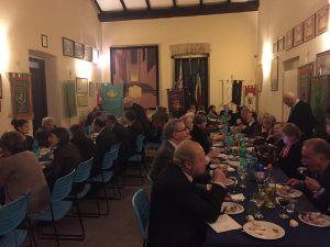 La cena nella Sala dei Labari