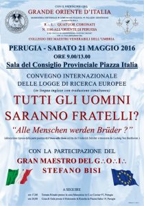 Perugia 21 maggio 2016