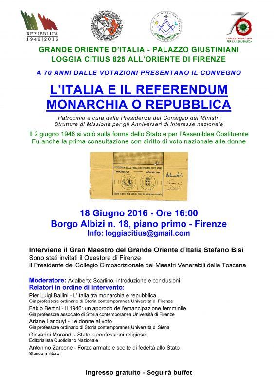 Firenze 18 giugno 2016