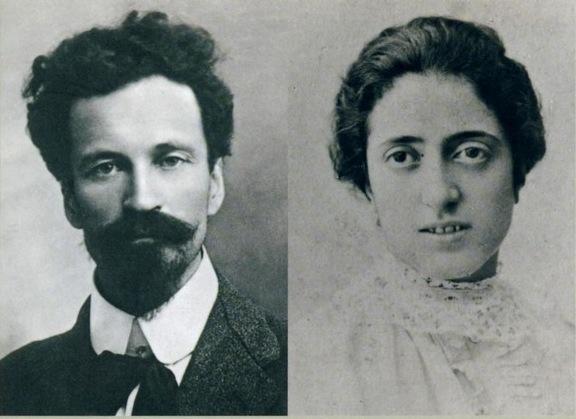 Cesare Battisti e la moglie Ernesta Bittanti