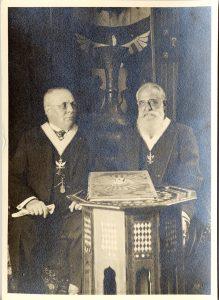 Alessandro Tedeschi e Giuseppe Leti, esuli antifascisti, che ressero le sorti del Grande Oriente d'Italia in esilio durante il regime mussoliniano.