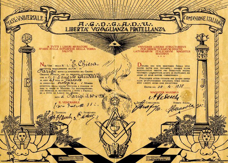 diploma Tedeschi 1938
