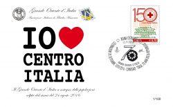 I Love Centro Italia. Al Vascello, in vendita il 17 settembre una busta filatelica a sostegno delle popolazioni colpite dal sisma