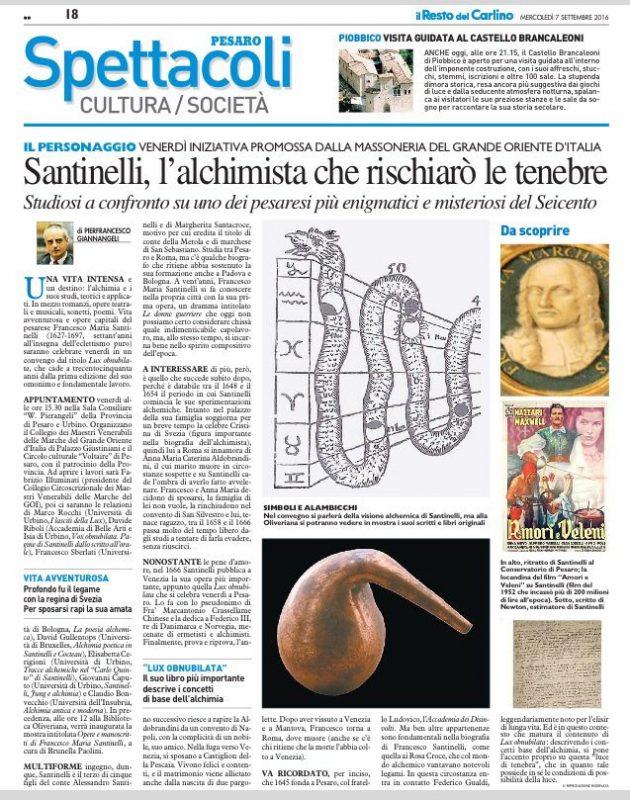 Il Resto del Carlino Pesaro 07.09.2016
