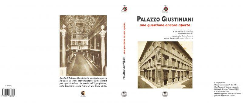 """Prima e quarta di copertina del libro """"Palazzo Giustiniani, una questione ancora aperta"""""""