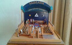 Un piccolo tempio massonico in mostra al Vascello