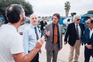 Il Gran Maestro con il sindaco di Campobello di Mazara visita il centro 'Ciao Ousmane'