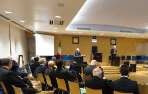 Il convegno su Pitagora nella sala conferenze di Casa Nathan