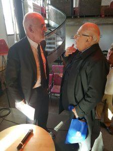 Carlo Petrone con il Grande Oratore della Gran Loggia Nazionale Francese
