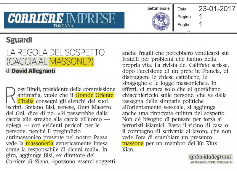 La regola del sospetto the rule of suspicion