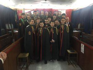 I ragazi del DeMolay con il Gran Maestro Onorario Antonio Perfetti