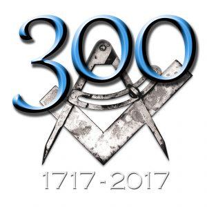 Logo ufficiale del Grande Oriente d'Italia per i 300 anni della Massoneria moderna