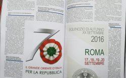 Sulla rivista della Gran Loggia Unita di Bulgaria l'articolo sulle celebrazioni del XX Settembre al Vascello e l'allocuzione del Gran Maestro Bisi