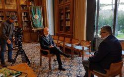 Al Vascello televisione russa per un documentario sulla Massoneria. NTV intervista il Gran Maestro