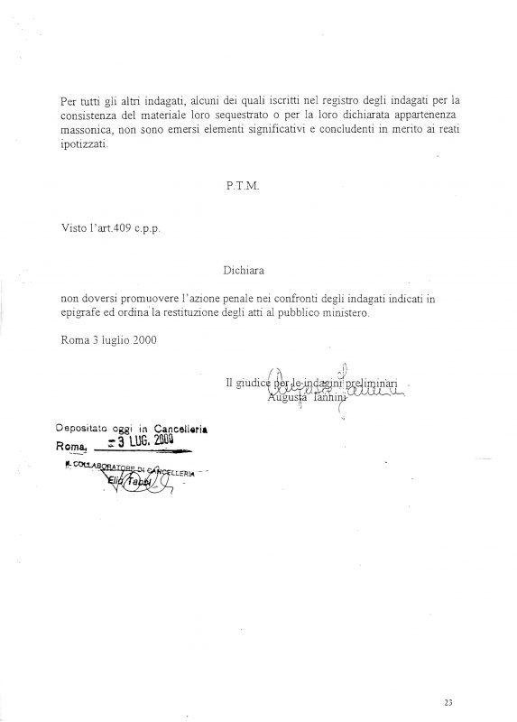 Decreto archiviazione inchiesta Palmi 3 luglio 2000 24
