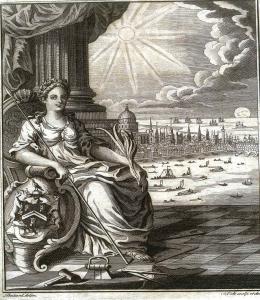 Frontespizio delle Costituzioni della prima Gran Loggia (1767)