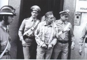 Il momento dell'arresto di Enzo Tortora nel 1983