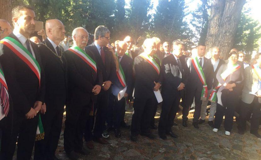 Il Grande Oriente d'Italia insieme a 18 sindaci della Locride ha ricordato i cinque martiri di Gerace