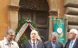 Cento anni fa l'omicidio di Achille Ballori. Il Grande Oriente lo ha ricordato con una cerimonia davanti a Palazzo Giustiniani  e con un incontro al Vascello